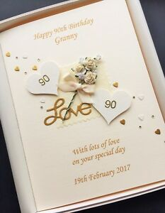 Image Is Loading 90th BIRTHDAY CARD FOR WOMEN Personalised Handmade Gift
