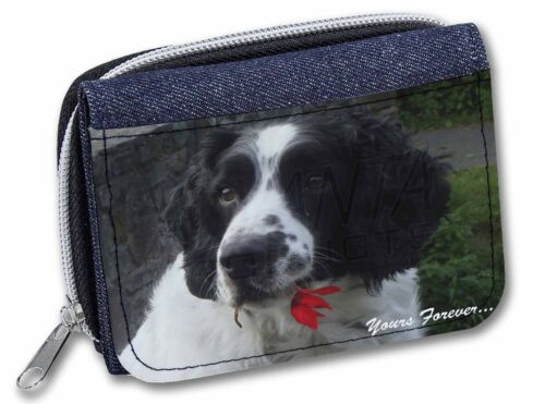 Springer Spaniel /'Yours Forever/' Girls//Ladies Denim Purse Wallet Chri AD-SS50JW