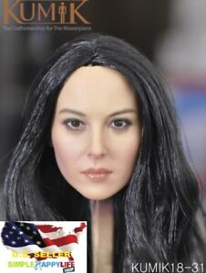 "1//6 Scale Woman Hair Wig 2.5 Multi Color For 12/"" Female Head Sculpt ❶USA❶"