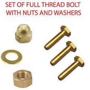Nylon Screw Bolt M8 8mm x 40mm Hex Set Screw Bolt Qty 2