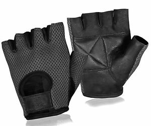 Weight Lifting Cycling Gloves Gym Half Finger Gloves A-Leather Fitness Gloves