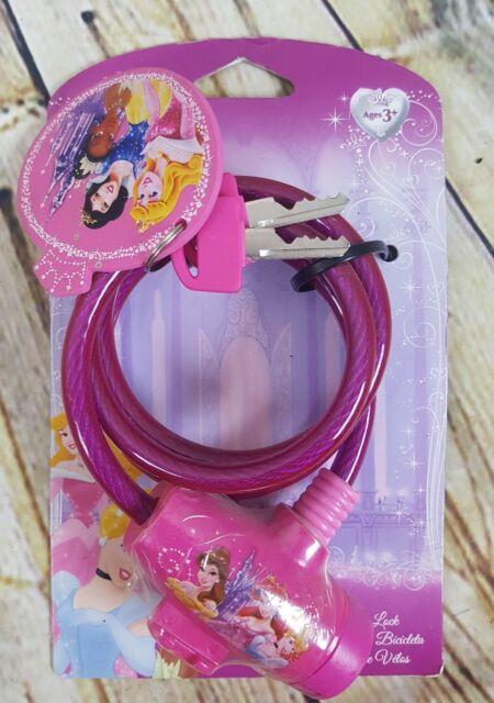 Disney Princess Bicycle Lock Keys Keychain Belle Snow White Tiana