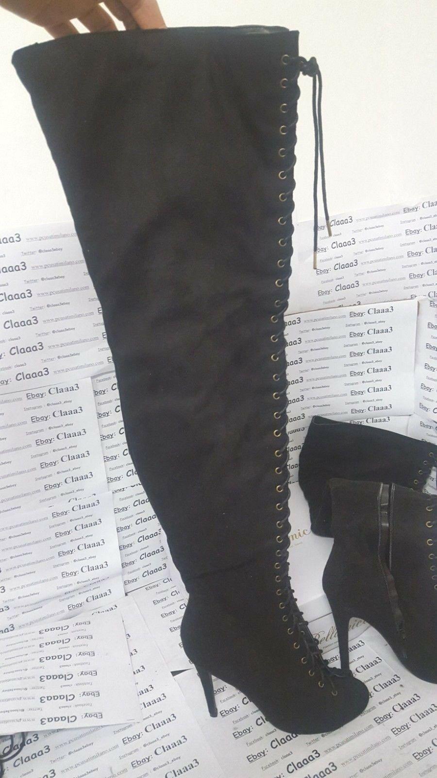 Bellissimi botas  NERI tacco 12 mujer numero 40  - COME NUOVI