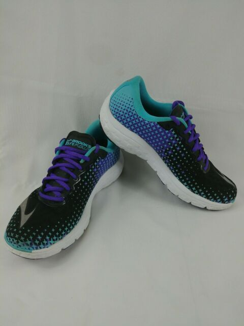 4b91a2e55f2 Brooks Womens Pureflow 5 Bluefish Black Electric Purple Running Sneakers  Shoes 8