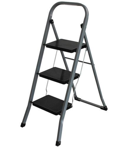 Klapptritt 150kg Trittbock 3 Stufen Haushaltsleiter Trittleiter Leiter