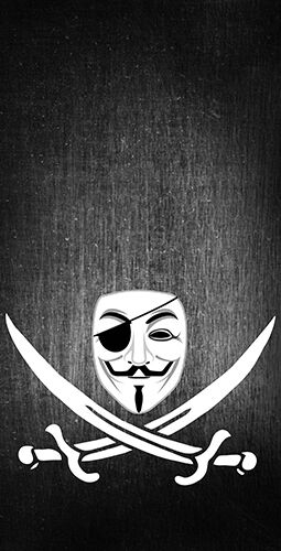 Anonymous Piracy Themed Cornhole Board Prints   Wraps   Corn Hole