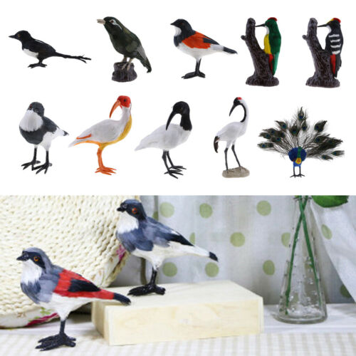 1pc Artificial Bird Realistic Life Like Figurine Statue Home Garden 10 Types