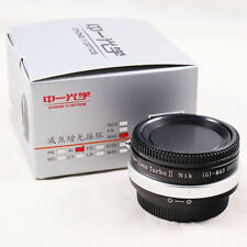 Zhongyi Lens Turbo II Focal Reducer Adapter Nikon F AI mount G to Micro 4/3 MFT