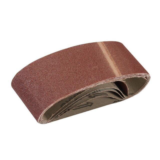 5 bandes abrasives 60 x 400 mm - Grain 80