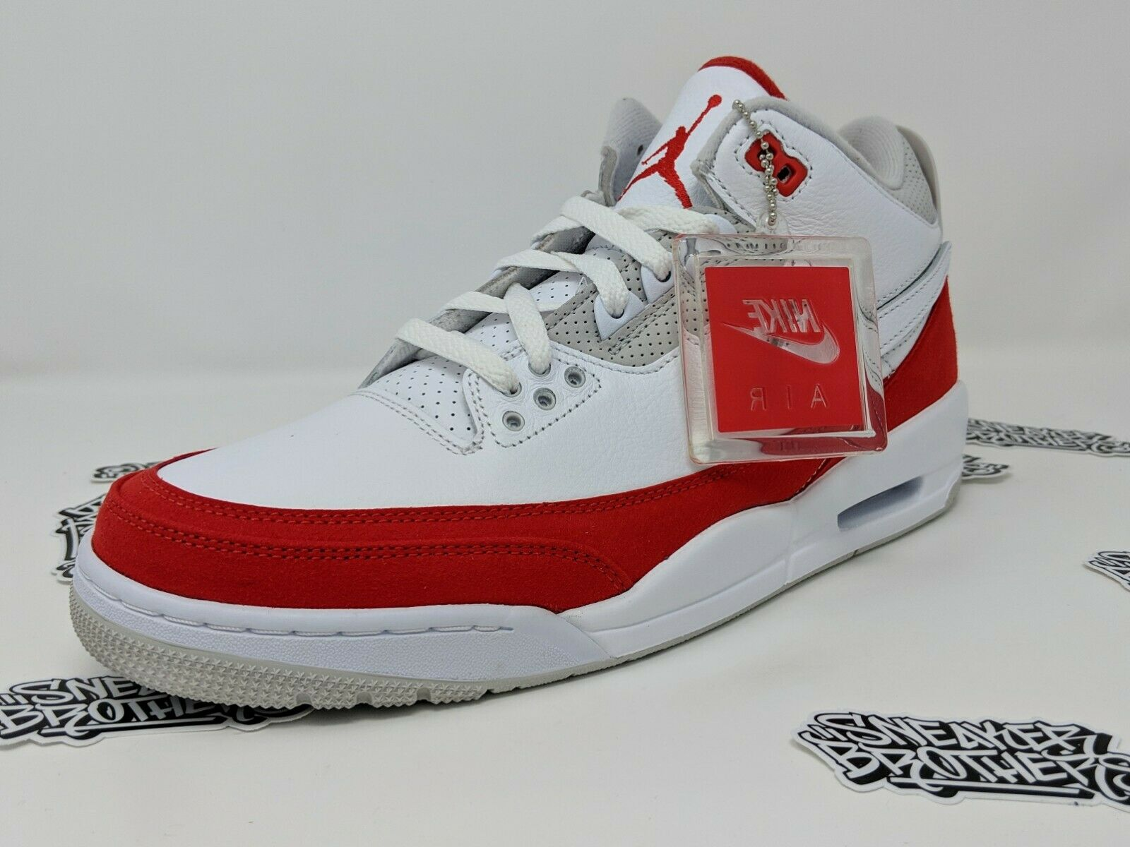 Nike Air Jordan Retro III 3 Tinker Hatfield TH SP Air Max 1 White Red CJ0939-100