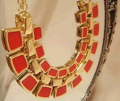 Fashion Charm Jewelry Chain Pendant Crystal Choker Chunky Statement Bib Necklace