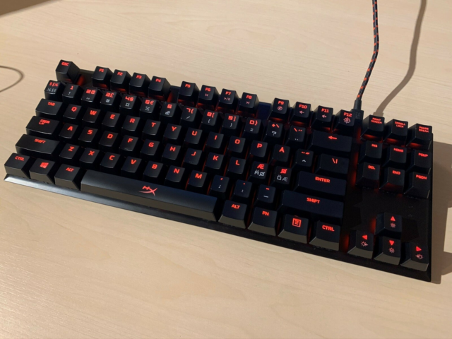 Tastatur, HyperX, Alloy FPS Pro, God, Under et år gammelt.…