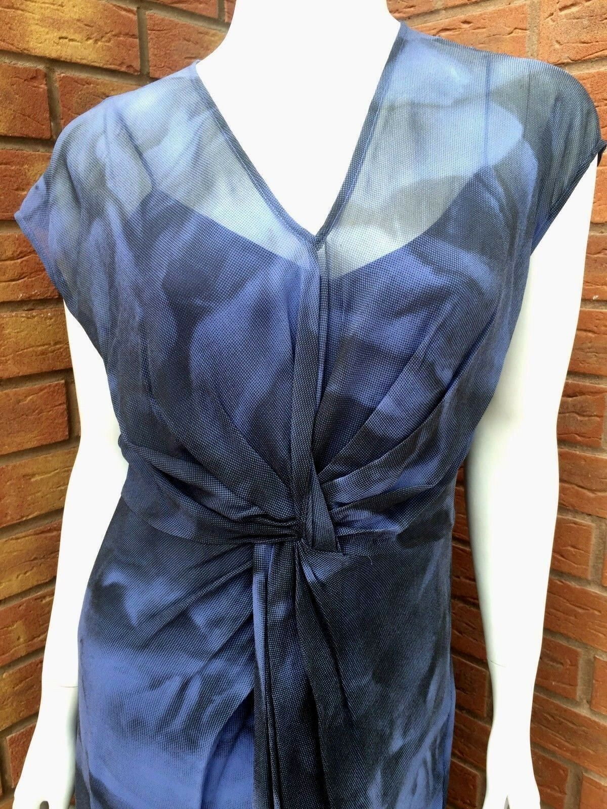 EPISODE MIDNIGHT blueE DRESS 100% SILK RETAIL    SIZE BNWT ddfc09