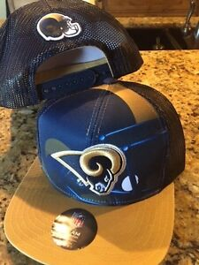 19a95092 Details about Los Angeles Rams trucker hat Youth NFL new snap back straight  bill kids A