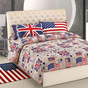 Copripiumino America.Completo Copripiumino Bandiera America Inghilterra Usa Uk 100