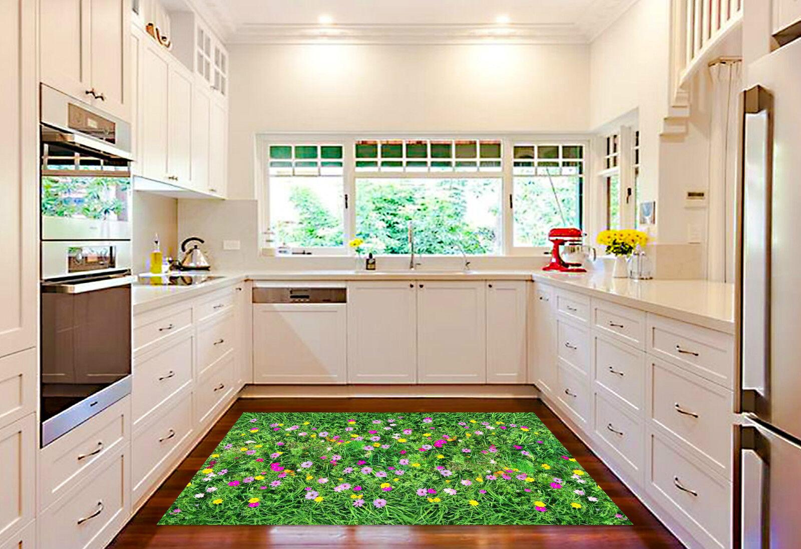 3D Flowers Grass Kitchen Mat Floor Murals Wall Print Wall Deco AJ WALLPAPER CA