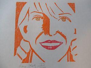 Alex-Katz-034-Jessica-034-Beautiful-Woodcut-Hand-Signed-amp-Numbered