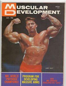 Details about muscular development bodybuilding muscle magazine larry