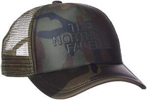 THE NORTH FACE Logo Mesh Baseball Cap Woodland CAMO Free Size New  76ccfa659283