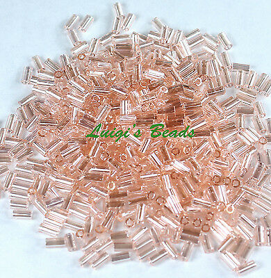 15 grams Trans-Lustered Rosaline #106-TOHO Bugle Glass Seed Beads 3mm Sz 1