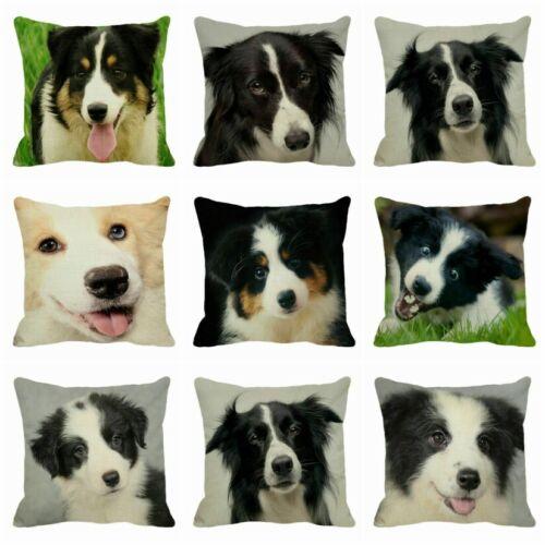"Square Animal Pillowcase Cotton Linen Cushion Cover Home Sofa Decorative 18/"""
