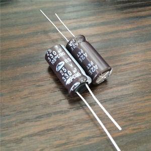 50pcs 25v 330uf 330μF 105c aluminum electrolytic capacitor 8×12mm