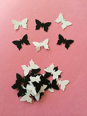 scrapbooking table confetti 50 small Black Butterflies wedding crafts