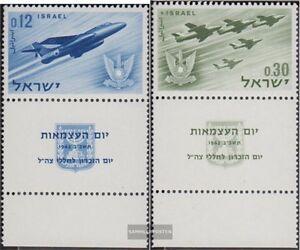 Israel-254-255-mit-Tab-kompl-Ausg-postfrisch-1962-Unabhaengigkeit