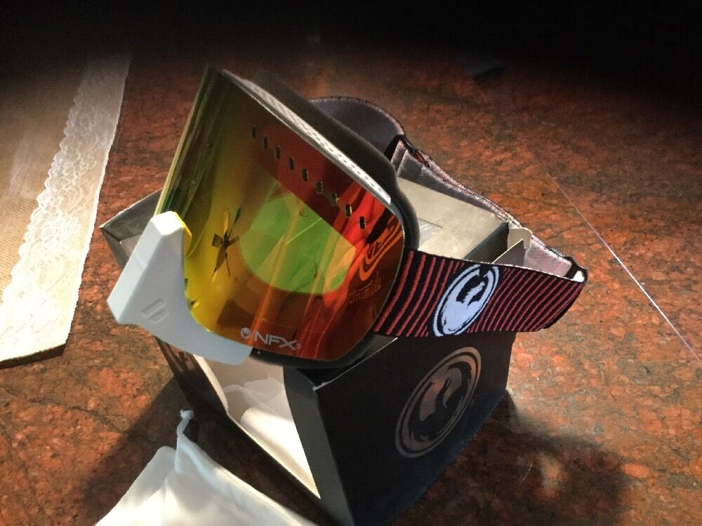 DRAGON NFXS SNOW blueR  YELLOW RED ION GOGGLES.