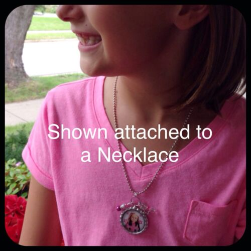 Zipper Pull ID Tag Personalized BARBIE Bottle Cap Pendant Name Necklace Jewelry