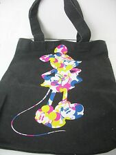 Canvas Tote Bag Disney Couture Mickey Mouse Silhouette Colorful Black Large