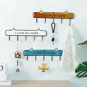 Wall-Mount-Key-Rack-Hanger-Holder-3-4-5-Hook-Chain-Organizer-Home-Storage-Plsei