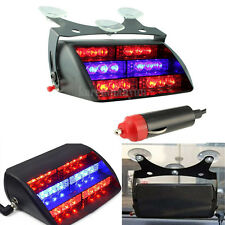 18 LED Car Police Strobe Warning Light Dash Emergency 3 Flash Light Red&Blue 12V