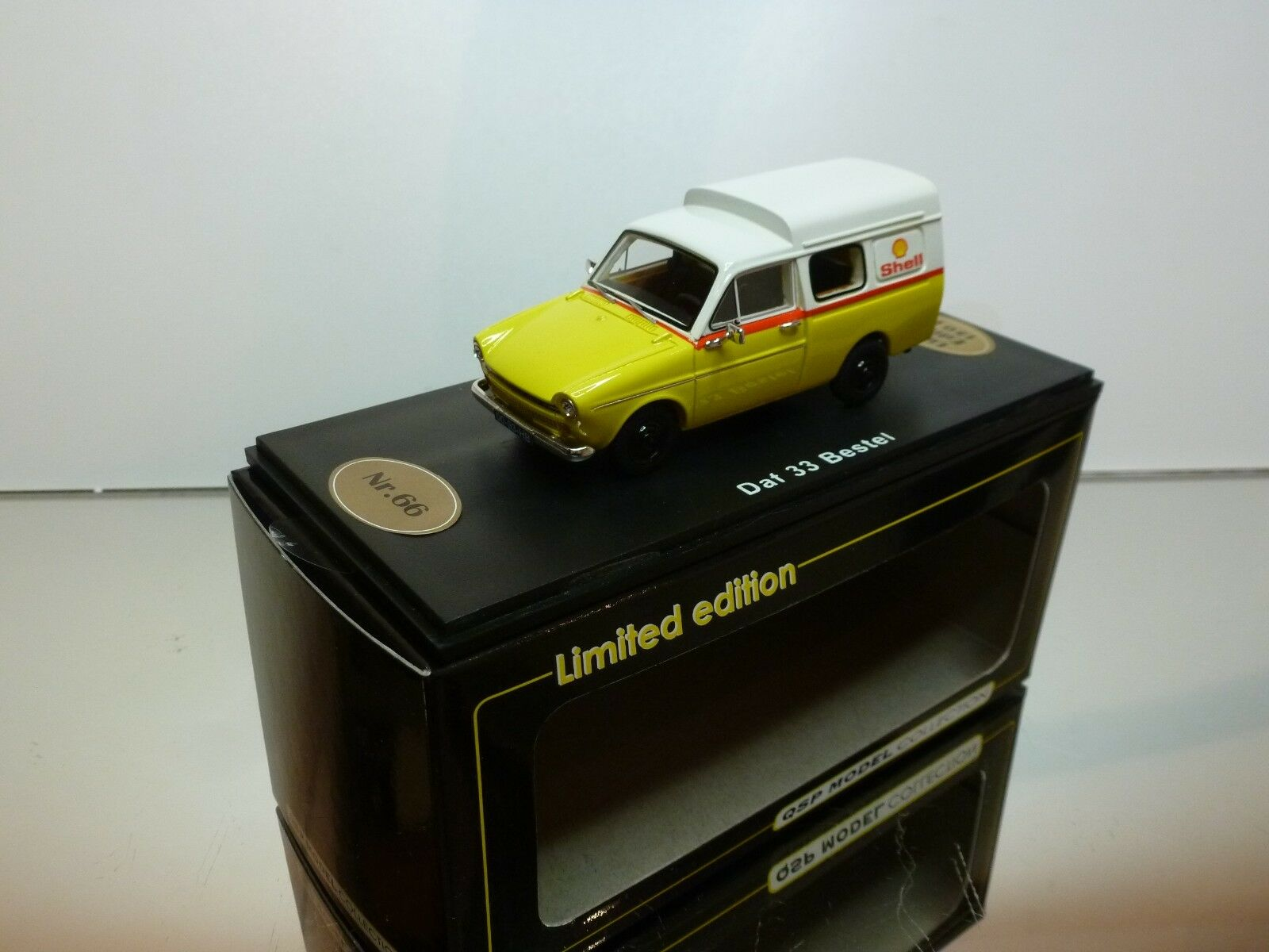 QSP MODEL DAF 33 BESTEL SHELL - giallo + bianca 1 43 - EXCELLENT IN BOX