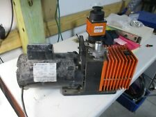 Alcatel Vacuum Pump With Franklin Electric Motor 12hp 1725rpm 27225t Used