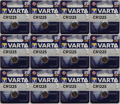 Methodisch 12 Stück Varta Cr1225 Batterien Knopfzellen Knopfzelle Uhren Mhd 06-2028