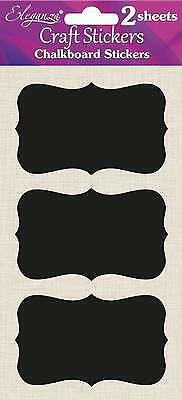 Self Adhesive Blackboard Stickers Chalkboard Labels Hearts Oval Jars Crafts
