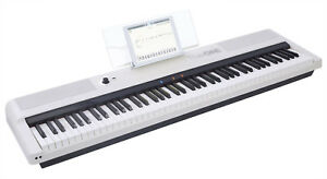 the one 88key digital piano weighted action electronic midi keyboard keys white 854558006454 ebay. Black Bedroom Furniture Sets. Home Design Ideas