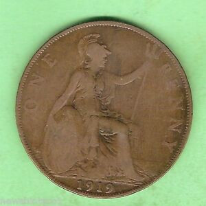 GREAT-BRITAIN-BRONZE-ONE-PENNY-1919