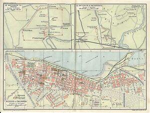 Metaponto Cartina Geografica.Carta Geografica Antica Reggio Calabria Paestum Metaponto Tci 1928 Antique Map Ebay
