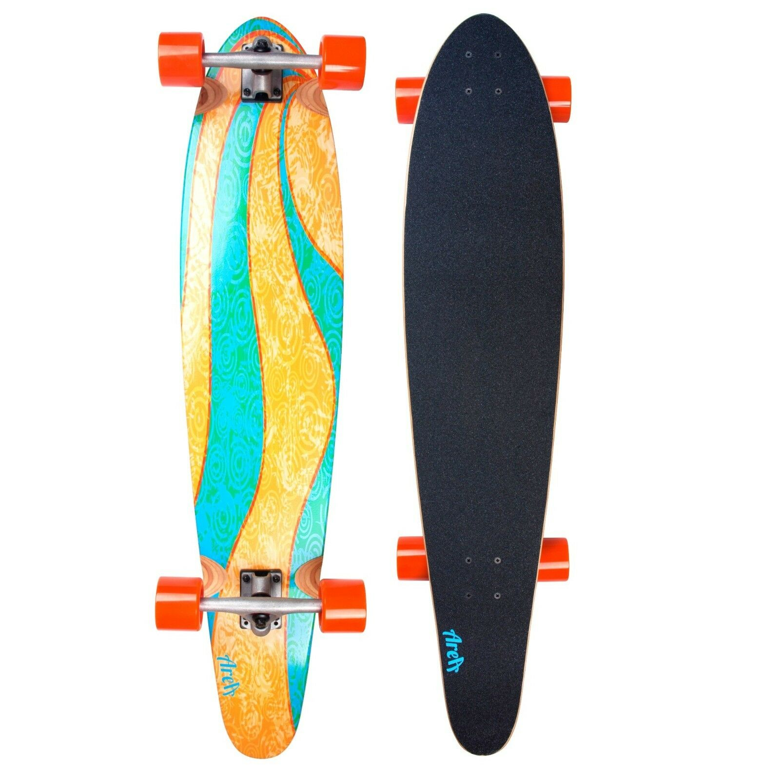 Original Longboard My Area Blau Wave  Komplett Skatboard Model