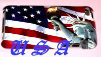 For Ipod Touch 4th 4 Th 4g Itouch Case Us American America Flag Statue Liberty /
