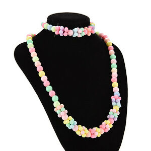 1 Set Cute Sweet Little Girl Jewelry Gifts Cute Jewelry Necklace & Bracelet EV