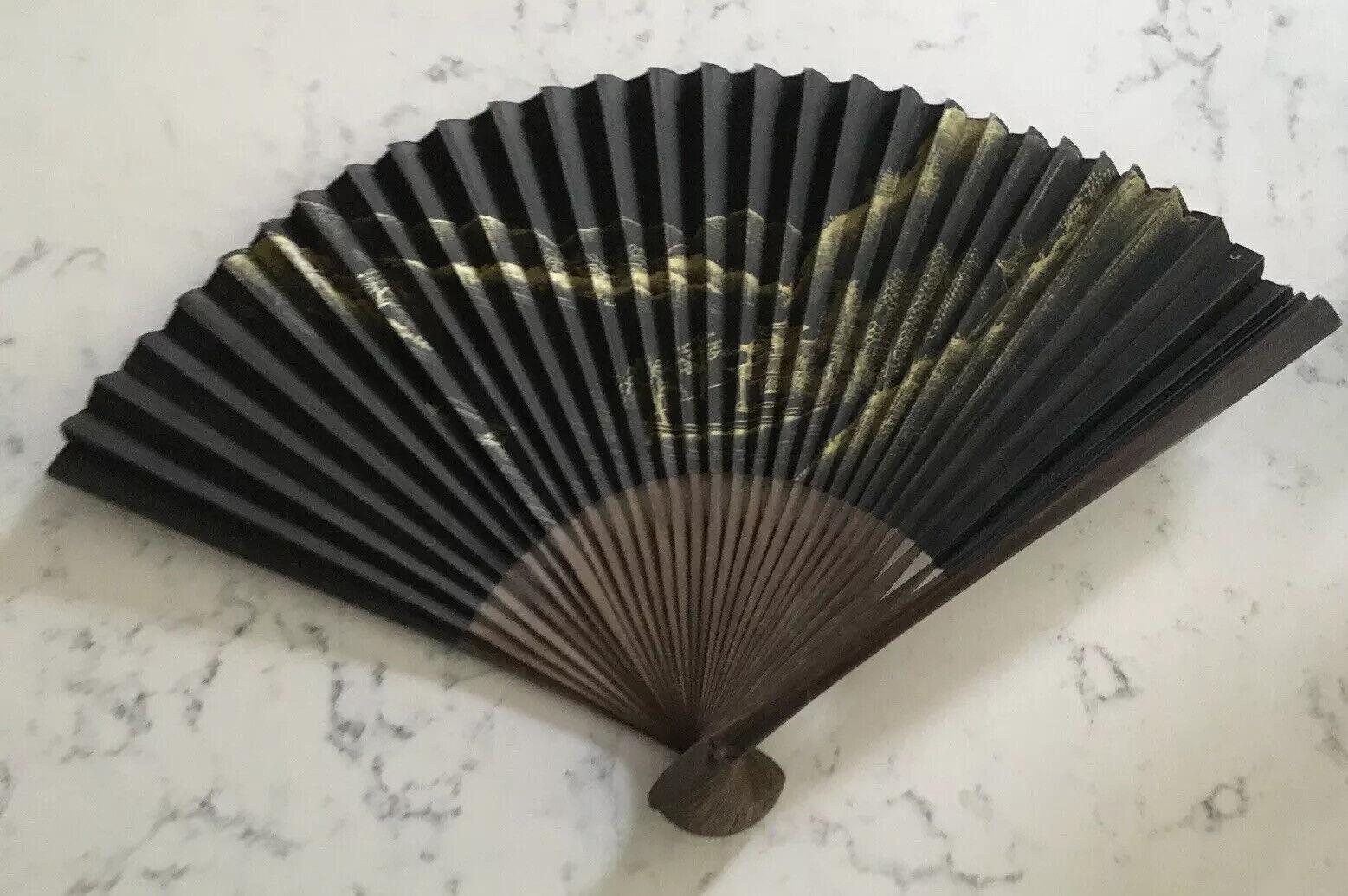 Gorgeous Vintage Art Deco Cream Celluloid Fan with Pierced Floral Design
