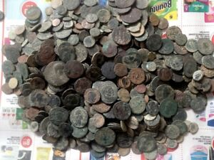 uncleaned-And-unsorted-DESERT-Roman-coins-from-Israel-PER-COIN-BIDDING
