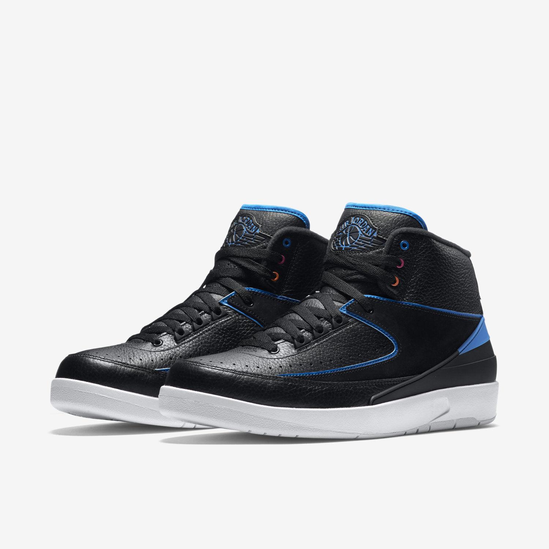 Nike Air Jordan 2 Retro Black/Blue/White (834274 014) Men's Sz. 10.5