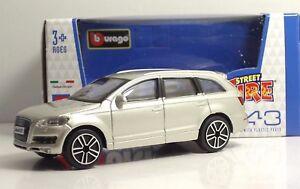 Bburago-30000-AUDI-Q7-034-Met-Silver-034-METAL-Scala-1-43