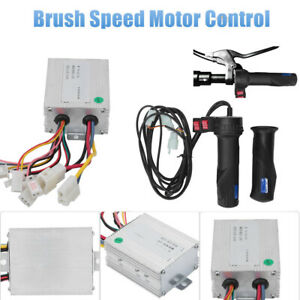 DC-12V-Motor-Brushed-Speed-Controller-Throttle-Grip-For-Electric-Bicycle-Scooter