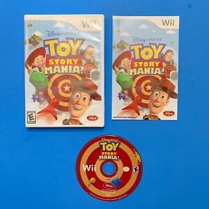 Toy Story Mania (Nintendo Wii Game2009) w/Manual Tested Working  (No 3D Glasses)