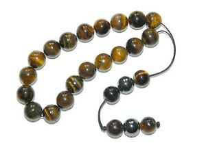 B-0156-Loose-String-Greek-Komboloi-Prayer-Beads-Fidget-Beads-10mm-Tiger-Eye